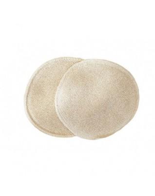 Natural reusable nursing pads