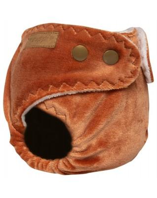 """Teddy Bear"" Pocket Fitted Diaper - NB"
