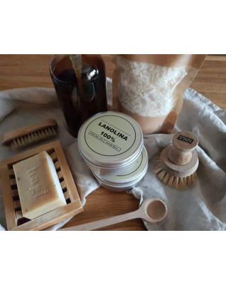 Homemade lanoline treatment set