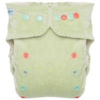 """Chilling Mint"" Pocket Fitted Diaper OS - V2"