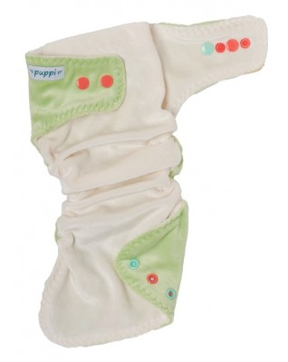 """Chilling Mint"" fitted pocket diaper"