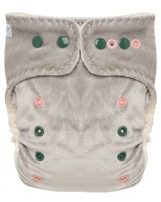 """Morning Mist"" Pocket Fitted Diaper OS - V2"