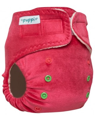 """Pink Blush"" Pocket Fitted Diaper OS - V2"