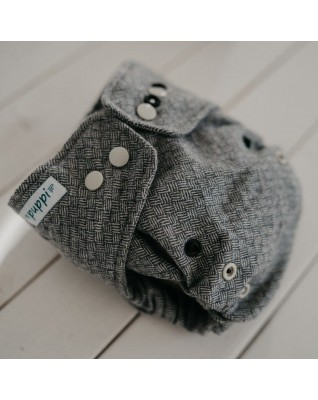 """Grey Jellyfish"" Merino Wool Cover OS+"