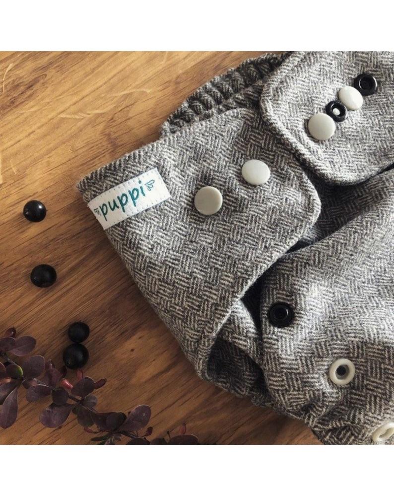 """Grey Jellyfish"" Merino Wool Cover OS+"