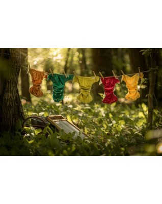 """""""Late Fall"""" Pocket Fitted Diaper - MOS"""