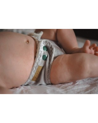 """""""Morning Mist"""" Pocket Fitted Diaper - MOS"""