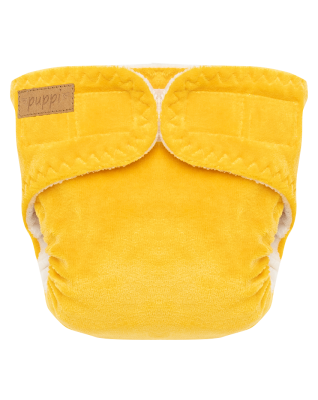 """""""Late Fall"""" Pocket Fitted Diaper - NB"""