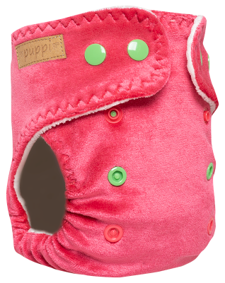 """Pink Blush"" Fitted Pocket Diaper - MOS - V2"